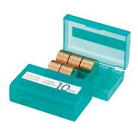 オープン工業 コインケース 10円用 収納100枚 M-10W (直送品)