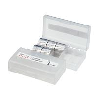 オープン工業 コインケース 1円用 収納100枚 M-1W (直送品)