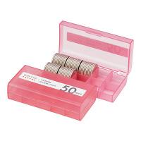 オープン工業 コインケース 50円用 収納100枚 M-50W (直送品)