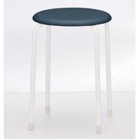 TOKIO 丸椅子(抗菌張地) ブルー 1箱(6脚入)