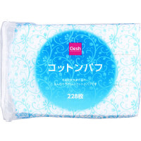 Clesh(クレシュ) コットンパフ 5×6cm 228枚入 スズラン