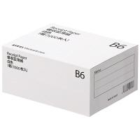 アスクル領収証用紙 B6 白色 無地 1箱(1000枚入)