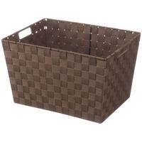 スマイル スクエア収納バスケット ブラウン 1箱(12個入)