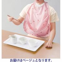 オオサキメディカル PH食事用エプロン ポケット付 ベージュ 1枚入 73753