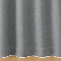 ポリエステルプリーツカーテン/グレー