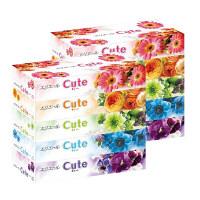 ティッシュペーパー 160組(5箱入) 1セット(2パック) エリエールキュート 大王製紙