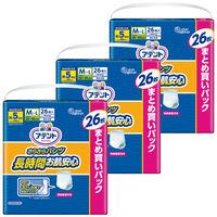 アテント さらさらパンツ長時間お肌安心 M~L 男女共用 1箱(26枚入X3パック) 大王製紙