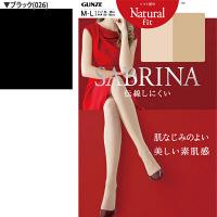 (グンゼ)GUNZE SABRINA Naturalfit(サブリナ ナチュラルフィット)ストッキング M-L ブラック 1セット(5足入)