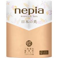 トイレットペーパー 4ロール入 パルプ ダブル 30m プレミアムソフトロール日本の美 蝶 1パック(4ロール入) 王子ネピア