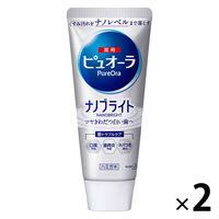 薬用ピュオーラ ナノブライト 115g 1セット(2本) 花王 歯磨き粉