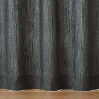 綿デニムプリーツカーテン/ネイビー