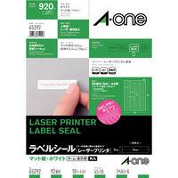 エーワン ラベルシール 表示・宛名ラベル レーザープリンタ マット紙 白 A4 92面 1袋(10シート入) 65292(取寄品)