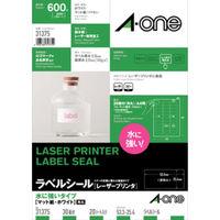エーワン 水に強い パッケージラベル レーザープリンタ 耐水紙 A4 30面 白 31375 1袋(20シート入)(取寄品)