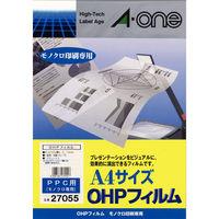 エーワン OHPフィルム コピー用 A4 ノーカット1面 1袋(100シート入) 27055(取寄品)