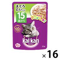 kalkan(カルカン) キャットフード パウチ 15歳から まぐろとたい 70g 1箱(16袋) マースジャパン