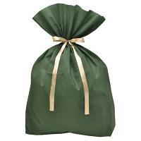 【クリスマス】ソフトバッグ 巾着袋 超BIG 緑 1枚