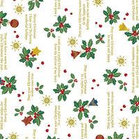 【クリスマス】包装紙 ホーリーデコ 半才判 10枚ロール 1本(10枚入)