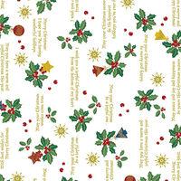 【クリスマス】包装紙 ホーリーデコ 全判 10枚ロール 1本(10枚入)