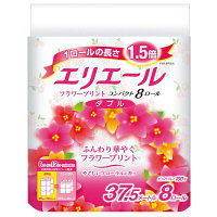 トイレットペーパー 8ロール パルプ 花の香り ダブル 37.5m エリエールトイレットティシュー 1パック(8個入) 大王製紙