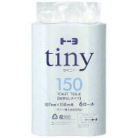 トイレットペーパー 6ロール 再生紙 シングル 150m 芯なし トーヨタイニー 1パック(6個入) トーヨ