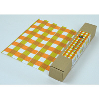 【在庫一掃セール】ワンデープレイスマット ブルームシリーズ 紙ペーパーランチョンマット サニーチェック