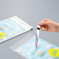 今村紙工 アルミ蒸着テープ付きOPP袋 簡易包装パック 長形3号封筒サイズ 透明封筒 1袋(500枚入)