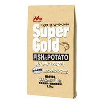 Super Gold(スーパーゴールド) ドッグフード フィッシュ&ポテト 子犬成犬用 7.5kg 1袋 森乳サンワールド