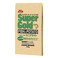 Super Gold(スーパーゴールド) ドッグフード フィッシュ&ポテト シニアライト 7.5kg 1袋 森乳サンワールド