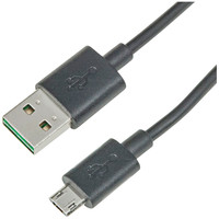 エックスパル 両挿し対応microUSBケーブル 1m microUSB-USB(A) ブラック/急速充電(2.4A)&データ通信対応 MPPBK10