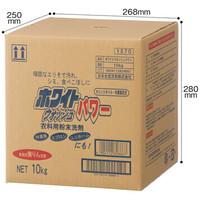 粉末衣料用洗剤 無りんホワイトウォッシュパワー 10kg 1セット(3箱) 日本合成洗剤