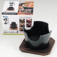 ストロングマーブル懐石 丸型コンロ12cm木台付 H-5370 パール金属 1個 (取寄品)