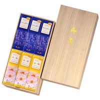 お線香 かたりべ 桐箱ラベンダー白梅 サック 6入 包装 日本香堂 1個 (取寄品)