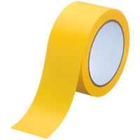 アスクル ラインテープ 幅50mm×長さ20m 黄 1巻