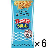 コイケヤ(湖池屋)スリムバッグスティックポテト うすしお味 1セット(6袋入)