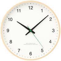 Lemnos(タカタレムノス) 木枠デザイン電波時計 [電波 掛け 時計] 白 101451-1 1個