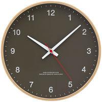 Lemnos(タカタレムノス) 木枠デザイン電波時計 [電波 掛け 時計] ブラウン 101451-2 1個