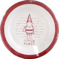 クリスマス 紙皿 JNペーパーディッシュ 3柄アソート 外径23×高さ2cm(9枚入) パーティー用品