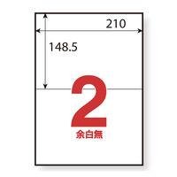 アスクル マルチプリンター強粘着ラベル 2面 A4 1冊(100シート入)