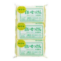 無添加 白いせっけん 108g 1箱(3個入×30パック入) ミヨシ石鹸