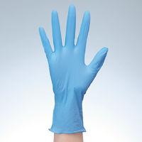 ファーストレイト 「現場のチカラ」 使いきりニトリル手袋 ブルー 粉あり 薄手 L 1箱(100枚入)