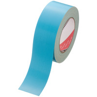 寺岡製作所 カラー布テープ カラーオリーブテープ No.145 0.31mm厚 空色(水色) 幅50mm×長さ25m巻 1巻