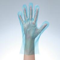 「現場のチカラ」 使いきりLDポリエチレン手袋(デザインパッケージ) S ブルー 片エンボス 1箱(200枚入) ファーストレイト