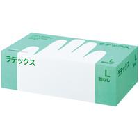 帝人フロンティア ラテックスゴム手袋パウダーフリー Lサイズ LTX-PF509L 1箱(100枚入) (使い捨て手袋)
