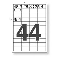 プリンターラベル44面 四辺余白付 A4