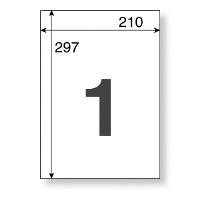 【アウトレット】アスクル マルチプリンターラベルノーカット A4 1箱(500シート入)