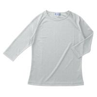KAZEN スクラブ インナーTシャツ(男女兼用) 半袖 シルバーグレー L 233-11