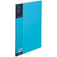 セキセイ 名刺ホルダー 200名用 ライトブルー NPP-200-11 1セット(3冊)