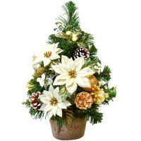 クリスマスツリーM ホワイトポインセチア