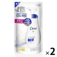 ダヴ(Dove) ビューティモイスチャー クリーミー泡洗顔料 つめかえ用 140ml 2個セット ユニリーバ