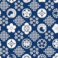 包装紙 半才判 花紋紺 49-1719 1袋(50枚入) タカ印 (取寄品)